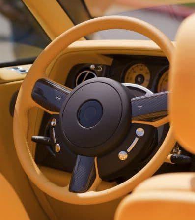 A steering wheel with added haptics
