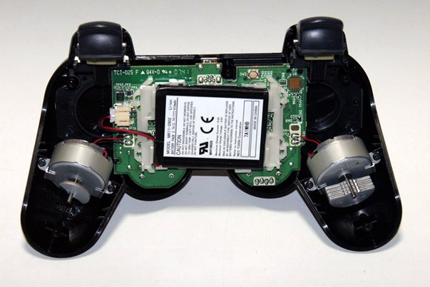 A video game controller with 'dual shock'
