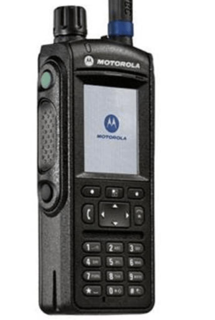 An emergency services ruggedised radio